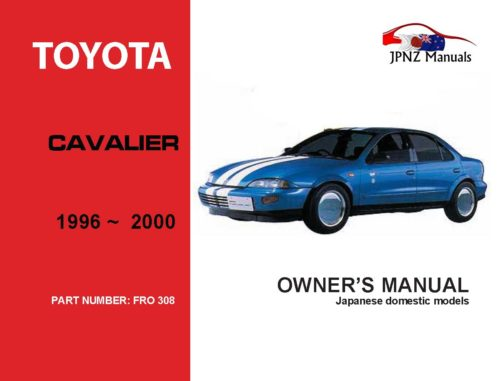 Toyota - Cavalier Car Owners User Manual In English | 1996 - 2000