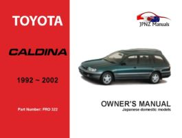 Toyota - Caldina Owner's User Manual In English | 1992 - 2002