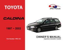 Toyota - Caldina Owner's User Manual In English | 1997 - 2002