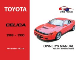 Toyota - Celica Owner's User Manual In English | 1989 - 1993