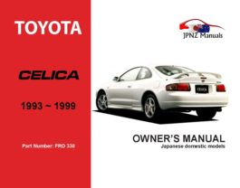 Toyota - Celica Car Owners User Manual In English | 1993 - 1999