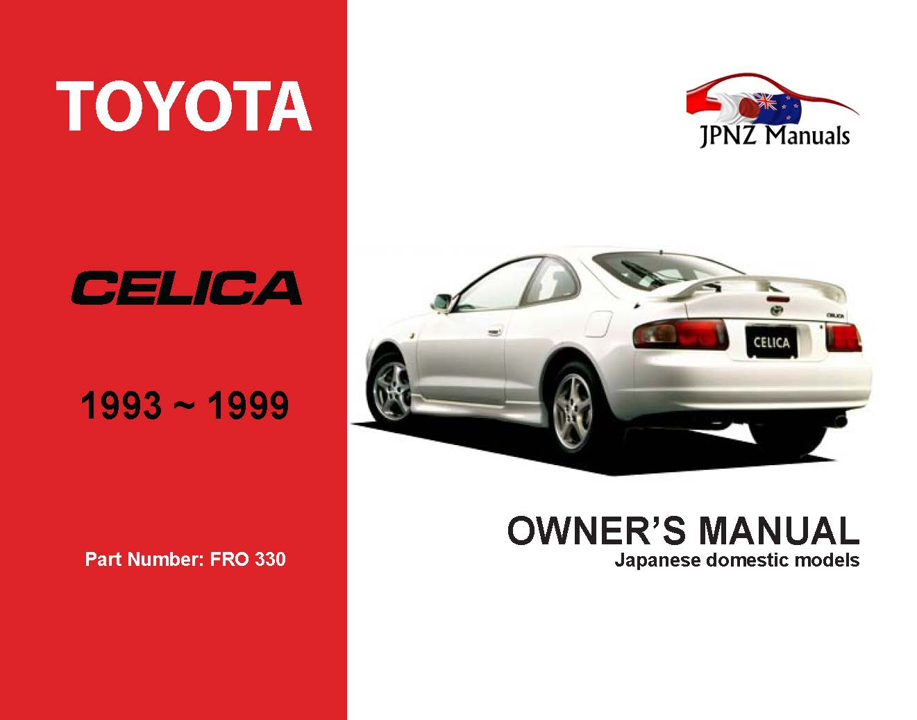 Toyota - Celica Car Owners User Manual In English   1993 - 1999