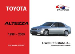 Toyota - Altezza Car Owners User Manual In English   1998 - 2005