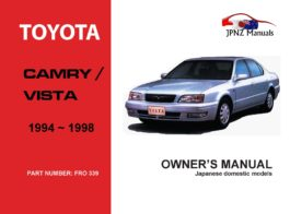 Toyota - Camry / Vista Car Owners User Manual In English   1994 - 1998