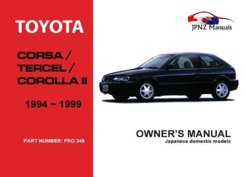 Toyota - Caldina Owners User Manual In English   2002 - 2007
