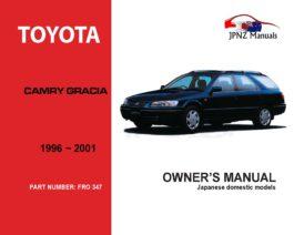 Toyota - Camry Gracia Sedan & Wagon Owners User Manual In English   1996 - 2001