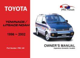 Toyota - Townace / Liteace Noah Owners User Manual In English | 1996 - 2002
