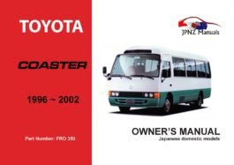 Toyota - Coaster Owners User Manual In English | 1996 - 2002