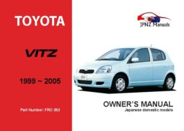 Toyota - Vitz Car Owners User Manual In English | 1999 - 2005