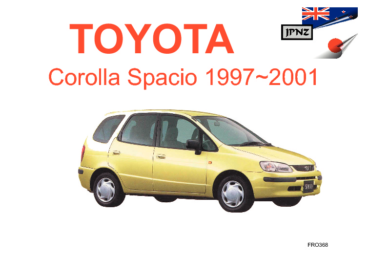 toyota corolla spacio car owners manual 1997 2001 e110w rh jpnz co nz manual de toyota corolla 2001 gratis manual toyota corolla 2001 pdf
