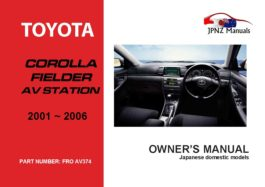 Toyota - Corolla Fielder AV Station Owner's User Manual In English   2000 - 2006