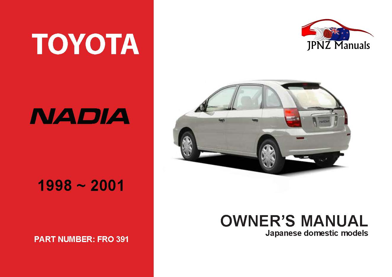Toyota – Nadia car owners manual | 1998 – 2001