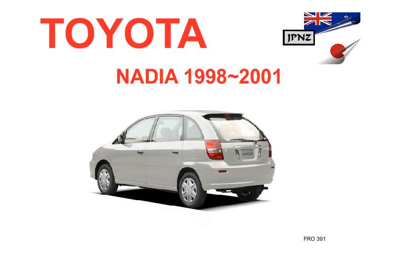 toyota nadia car owners manual 1998 2001 sxn1 acn10 rh jpnz co nz toyota nadia manual english Toyota Premio