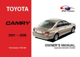 Toyota - Camry Car Owners User Manual In English | 2001 - 2006