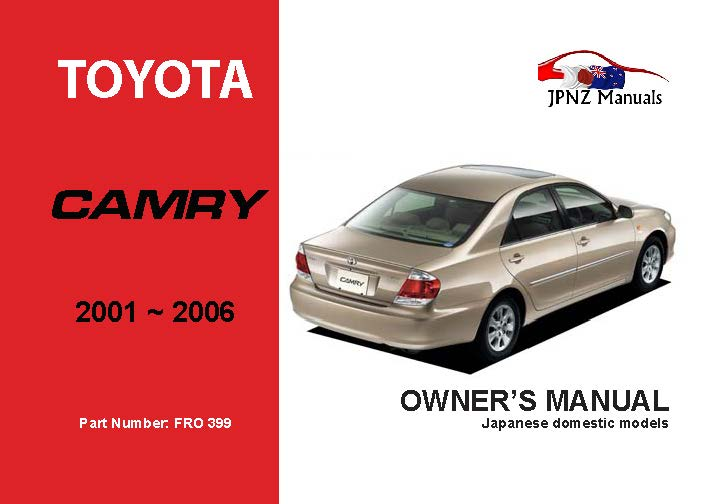 Toyota Camry Car Owners Manual 2001 2006 Acv30 border=