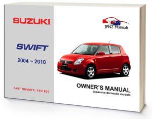 Suzuki – Swift Owners User Manual In English | 2004~2010