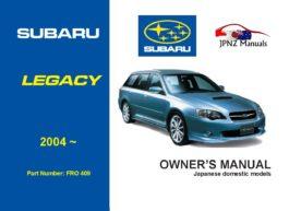 Subaru - Legacy / Legacy Outback car owners user manual in English | 2004 - 2009