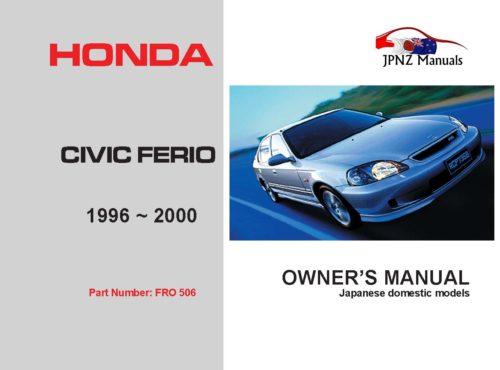 Honda - Civic Ferio Car Owners User Manual In English   1996 - 2000