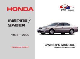 Honda - Inspire / Saber Car Owners User Manual In English | 1996 - 2000