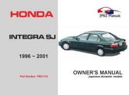 Honda - Integra SJ Car Owners User Manual In English | 1996 - 2001| EK3