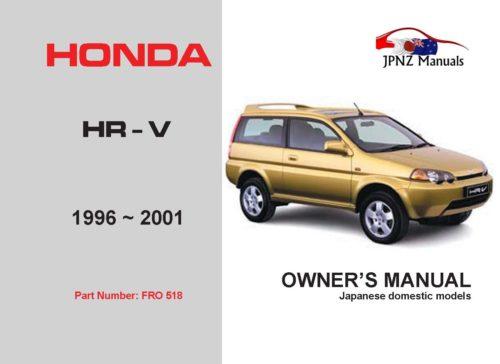 Honda - HR-V Car Owners User Manual In English   1996 - 2001