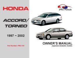 Honda - Accord / Torneo Car Owners User Manual In English | 1997 - 2002