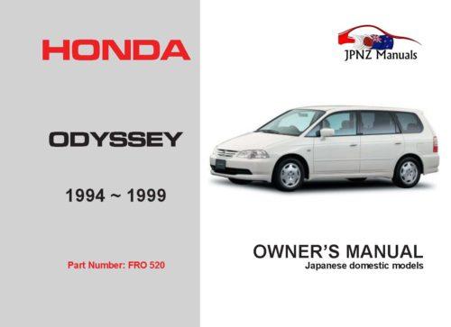 Honda - Odyssey Car Owners User Manual In English   1994 - 1999