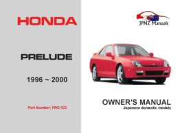 Honda - Prelude Owners User Manual In English   1996 - 2000