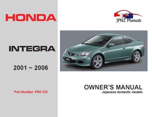 Honda - Integra Owners User Manual In English   2001 - 2006