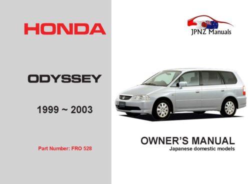 Honda - Odyssey Car Owners User Manual In English | 1999 - 2003