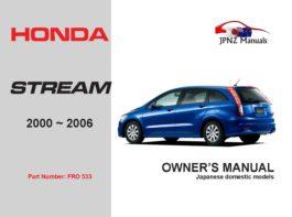Honda - Stream 2000~2006 Owners User Manual In English