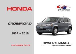 Honda - Crossroad Owners User Manual In English | 2007 ~ 2010