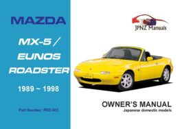 Mazda - MX-5 / MX5 / Eunos Roadster user owners manual in English | 1989~1998