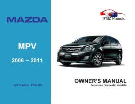 Mazda - MPV Owner's User Manual In English | 2006 ~ 2011