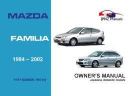 Mazda - Familia car owners user manual in English | 1994 - 2002