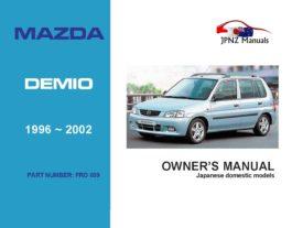Mazda - Demio Owners User Manual In English | 1996 - 2002