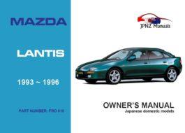 Mazda - Lantis car owners user manual in English | 1993 - 1996