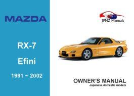 Mazda - RX-7 Enfini car owners user manual in English | 1991~2002