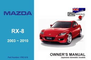 Mazda - RX-8 car owners user manual in English | 2003~2010