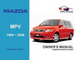 Mazda - MPV Owner's User Manual In English | 1999 ~ 2006