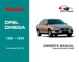 Isuzu - Opel Omega Car Owners User Manual In English | 1990 ~ 1995