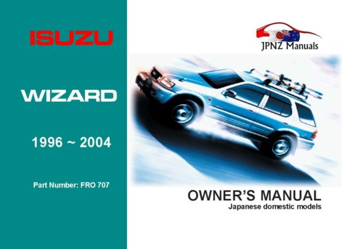 Isuzu - Wizard Car Owners User Manual In English   1996 - 2004