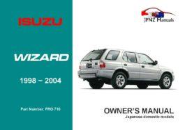 Isuzu - Wizard Owners User Manual In English | 1998 - 2004