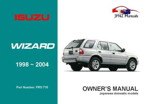 Isuzu - Wizard Owners User Manual In English   1998 - 2004