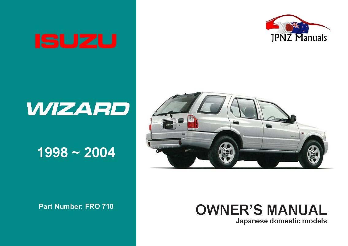 isuzu - wizard owners manual | 1998 - 2004