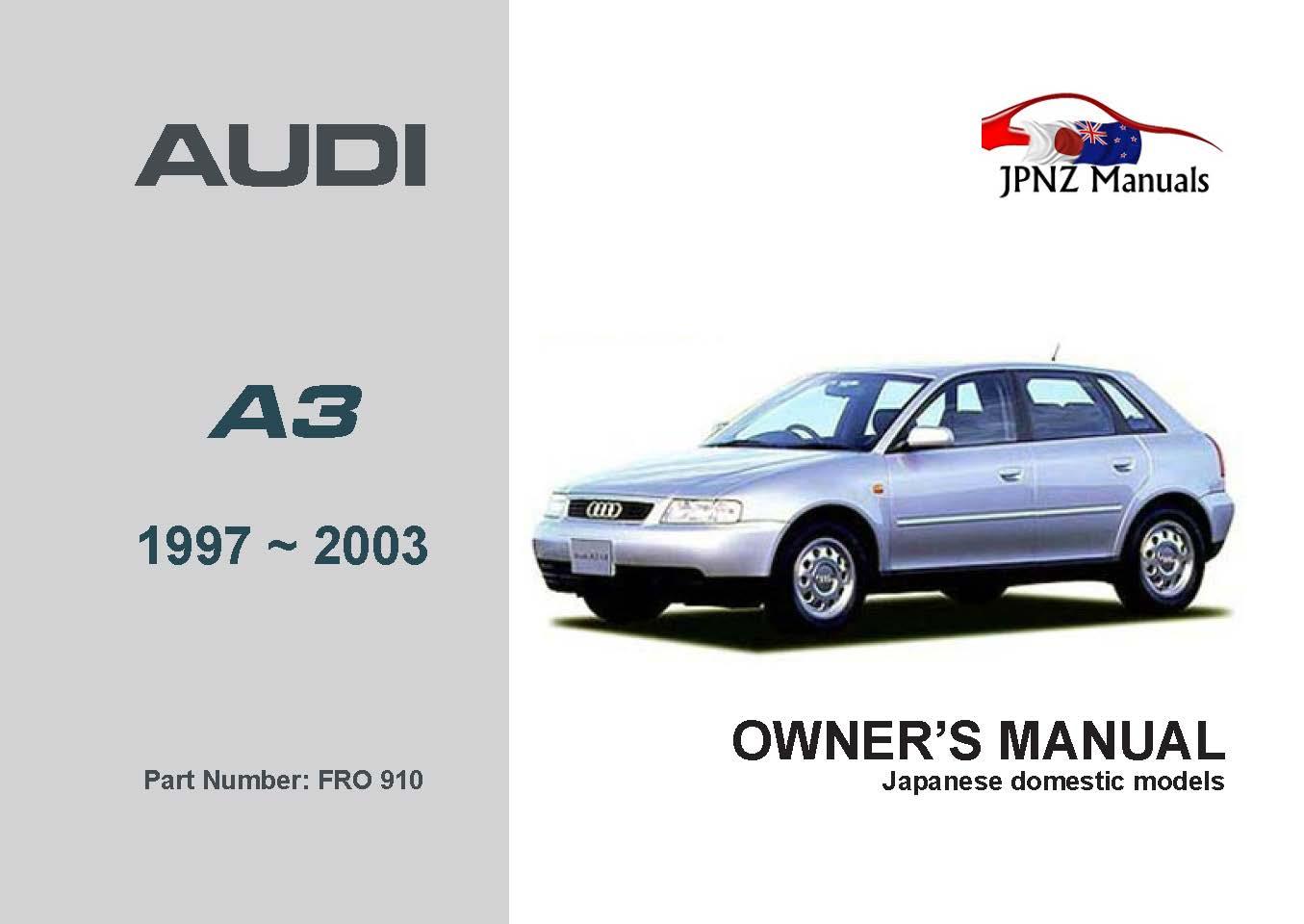 Audi A3 User Manual Download Audi A3 Owners Manual Free