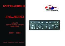 Mitsubishi - Pajero AV Screen User Manual In English | 1999 - 2006