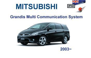 Mitsubishi U2013 Grandis Multi Communication System Manual   2003 U2013 2009