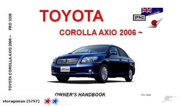 2006 toyota corolla owners manual pdf