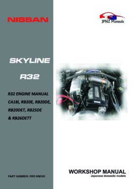 Nissan - R32 Skyline engine Workshop Service Manual in English